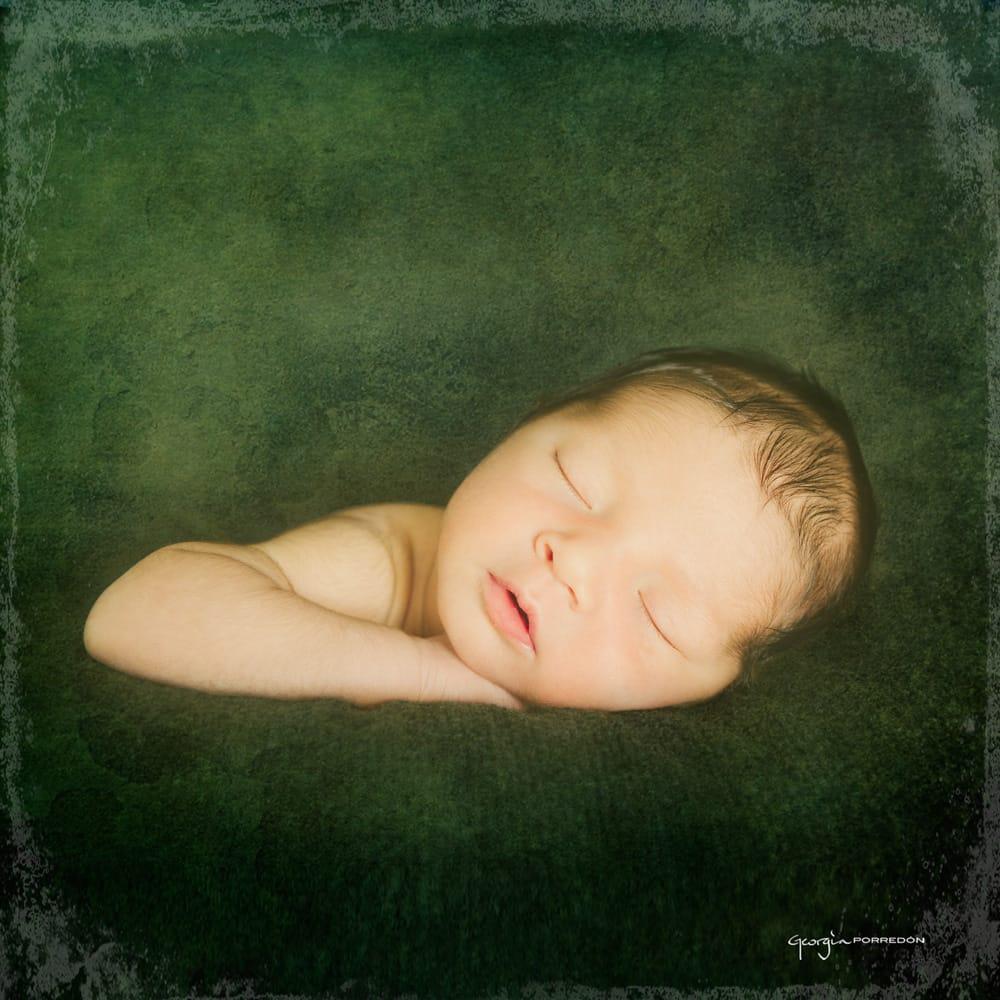 retrat de nado dormit apoiat en la seva ma